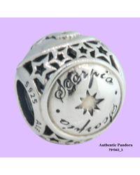 Pandora - Metallic 791943 Scorpio Silver Charm - Lyst