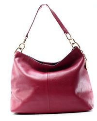 f2674a9d Tommy Hilfiger. Women's Red Leather Th Signature Hobo Shoulder Bag Purse