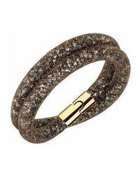 Swarovski - Stardust Brown Double Bracelet - Lyst
