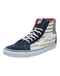 Vans - Unisex Sk8-hi Reissue Americana Sneakers Dressblues M6 W7.5 - Lyst