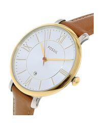Fossil - Multicolor Es3737 Jacqueline Leather Watch - Lyst