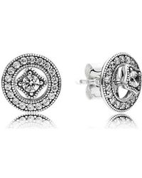 Pandora - Metallic Vintage Allure Stud Earrings - Lyst