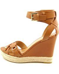 Tommy Hilfiger - Velvet 2 Women Us 10 Brown Wedge Sandal - Lyst