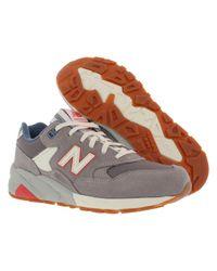New Balance - Gray 580 Riviera Casual Medium Shoes Size 7 - Lyst