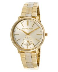 Michael Kors - Metallic Jaryn Gold Dial Ladies Watch Mk3510 - Lyst
