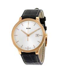 Rado - Centrix White Dial Dark Brown Leather Quartz Watch R30554105 for Men - Lyst