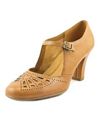 Aerosoles | Multicolor Role Of Fate Round Toe Leather Mary Janes | Lyst