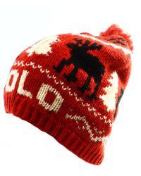 Polo Ralph Lauren - Reindeer Wool Cap (red - Lyst