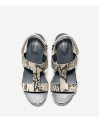 Cole Haan - White Zerøgrand T-strap Sandal - Lyst