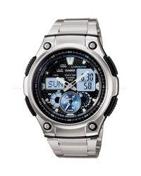 G-Shock - Metallic Ana-digi Watch Quartz Mineral Crystal Aq-190wd-1av for Men - Lyst