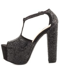Jessica Simpson - Danyy Women Open Toe Canvas Black Platform Heel - Lyst
