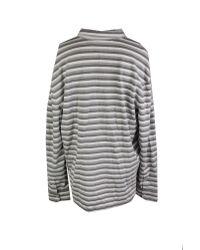 Tommy Hilfiger - Gray Vanderbilt Custom Fit Striped Polo Shirt for Men - Lyst