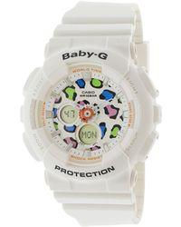 G-Shock - Baby G Ba120lp-7a1 White Resin Japanese Quartz Sport Watch for Men - Lyst
