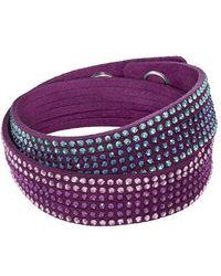 Swarovski - Purple Multicolor Crystal Double Wrap Bracelet - Lyst
