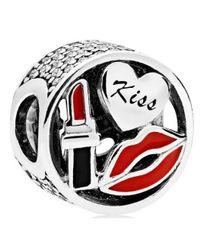 Pandora - Red Glamour Kiss Charm - 796324enmx - Lyst