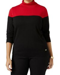 CALVIN KLEIN 205W39NYC - Red Womens Embellished 3/4 Sleeves Shrug Sweater - Lyst
