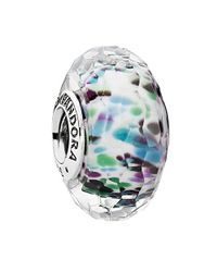 Pandora | Multicolor Tropical Sea Glass Charm | Lyst