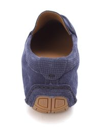 Cole Haan - Blue Stanleighsam Suede Closed Toe Slip On Shoes for Men - Lyst