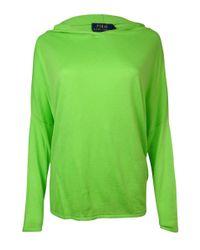 Polo Ralph Lauren - Green Hooded Dolman Cashmere Blend Sweater (m - Lyst