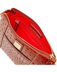 Dooney & Bourke - Red Ostrich Lexington Crossbody Shoulder Bag - Lyst