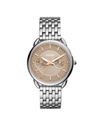 Fossil - Metallic Tailor Multifunction Bracelet Watch - Lyst
