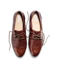Cole Haan - Brown Jagger Weave Oxford for Men - Lyst