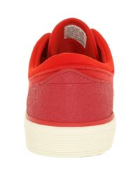 Polo Ralph Lauren | Faxon Low Nubuck Red Ankle-high Nubuck Fashion Sneaker for Men | Lyst