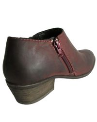 Steve Madden - Brown Womens Rosaaa Leather Zipper Bootie Shoe - Lyst