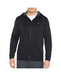 Champion - Tech Fleece Full Zip Hood-m/black/stealth for Men - Lyst