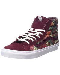 50784977b4 Lyst - Vans Unisex Sk8-hi Slim Italian Weave Skate Shoes-port Royal ...