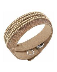 Swarovski - Metallic Slake Duo Gold Bracelet - 5153243 - Lyst