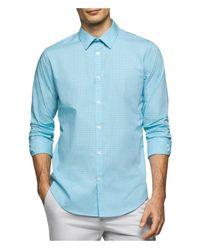 CALVIN KLEIN 205W39NYC - No Iron Button Up Shirt Blue Xl for Men - Lyst