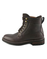 Tommy Hilfiger | Brown Hollins Men Round Toe Leather Boot for Men | Lyst
