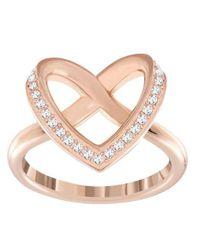Swarovski - Multicolor Cupidon Rhodium-tone Crystal Ring - Lyst