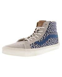 Vans - Blue Sk8-hi Reissue Ca Italian Weave High-top Skateboarding Shoe - 11.5m for Men - Lyst