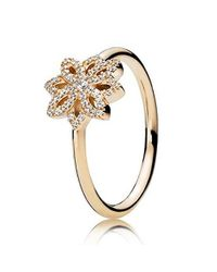 Pandora - Metallic Lace Botanique 14k Gold Ring 150182cz - Lyst