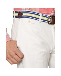 Polo Ralph Lauren - White Mens Straight Linen-cotton Shorts for Men - Lyst