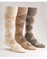 Polo Ralph Lauren - Multicolor Argyle Cotton Crew Socks 3-pack for Men - Lyst