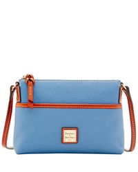 Dooney & Bourke | Blue Pebble Grain Ginger Pouchette | Lyst