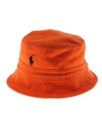 6dc9ee53b10f6 Lyst - Polo Ralph Lauren Pique Mesh Bucket Hat in Orange for Men