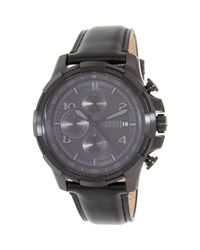 Fossil - Dean Fs5133 Black Stainless-steel Quartz Watch for Men - Lyst