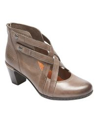 Rockport - Gray Cobb Hill Rashel Xstrap Shoe - Lyst