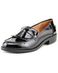 fea7321eb04 Lyst - Steve Madden Meela Women Round Toe Synthetic Black Loafer in ...