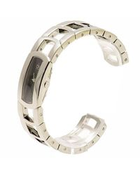 CALVIN KLEIN 205W39NYC - Metallic K3y2m11f Silver Cuff Bracelet Analog Watch - Lyst