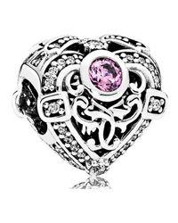 Pandora - Multicolor Opulent Heart Charm - Lyst