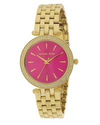 Michael Kors - Pink Mk3444 Darci Watch - Lyst