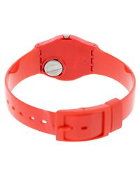 Swatch - Originals Lr127 Red Plastic Swiss Quartz Fashion Watch - Lyst