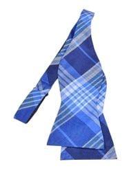 Tommy Hilfiger - Blue Big Twill Plaid Bow Tie (os for Men - Lyst