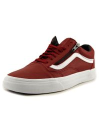 e7856a0034000c Lyst - Vans Old Skool Zip Men Us 13 Red Sneakers in Red for Men