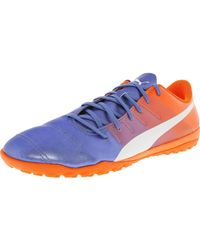 Puma Evopower 4.3 Tt Blau     Weiß Orange Ankle high Leder Soccer ... 29c0bb
